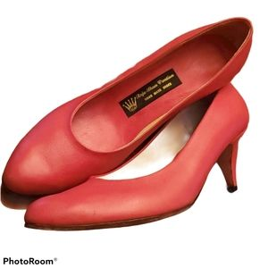 Hand Made Cerise Leather Pumps